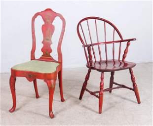 (2) Decorative chairs