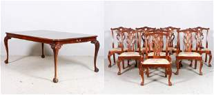 (9) pc Chippendale Style Mahogany Dining Room Set