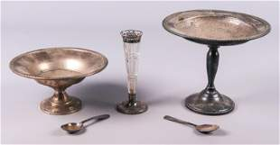 Sterling Weighted Compotes and Vase