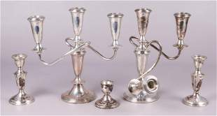 (5) Weighted Sterling Candlesticks