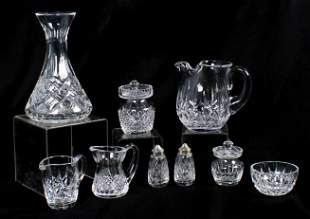 (9) Waterford Table Items