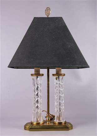 Waterford Double Column Crystal Table Lamp