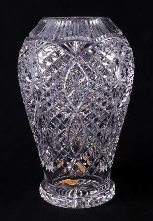Waterford Crystal Footed Vase