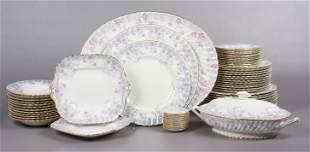 (65) Pc Minton 'Garden Pinks' Dinnerware Set