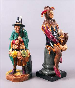 (2) Royal Doulton Jester and Mask Seller