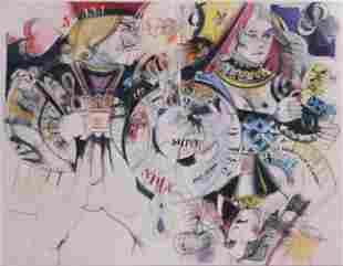 "Damballah Dolphus Smith Painting ""Game Montage"""