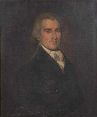 19th C Portrait Painting of a Gentleman