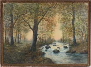 Raphael Senseman Watercolor Landscape Painting