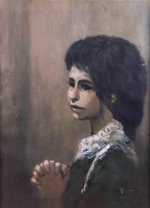 William Weintraub Portrait of a Girl
