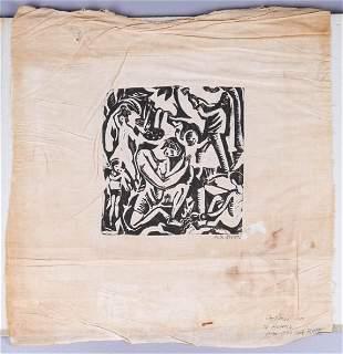 Ruth Reeves Silkscreen on Linen