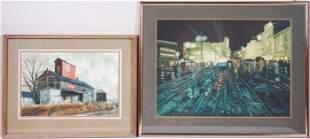 (2) Bruce Johnson Watercolor Paintings