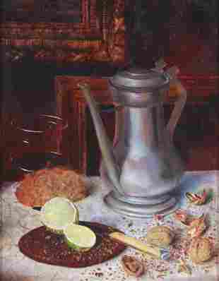 """Christopher Robbins """"Still Life with Pewter"""""""
