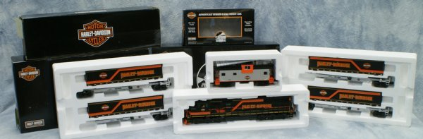 5: 4 pc set, Rail King by MTH Electric Trains, Harley-D