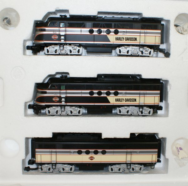 6: 3 pc set, Rail King by MTH Electric Trains, Harley-D