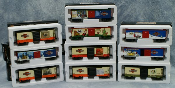 11: Lot of 10 cars, Rail King by MTH Electric Trains, (