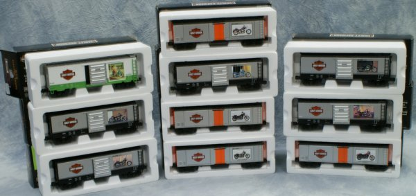 12: Lot 10 cars, Rail King by MTH Electric Trains, (1).