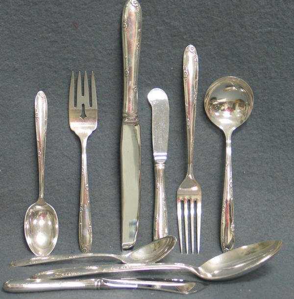 """97: 52 pieces Towle """"Madeira"""" pattern sterling silver f"""