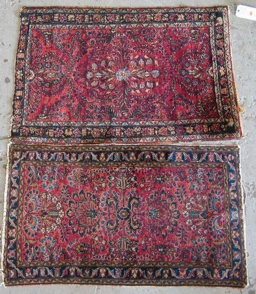 12: (1) 2.6 x 4.0 and (1) 2.9 x 3.11 Sarouk throw rugs