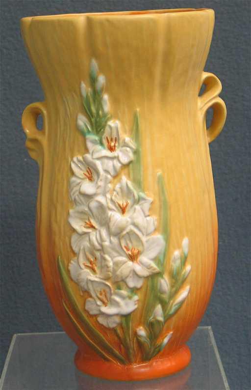4096h Weller Vase Orange To Yellow Relief Backround W