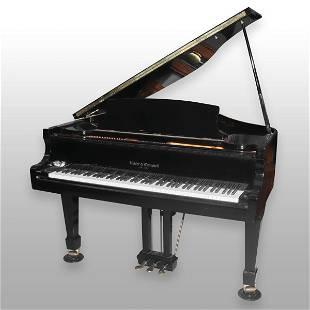 Kohler and Campbell ebonized baby grand piano