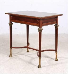 Edwardian Mahogany Brass Inlaid side table