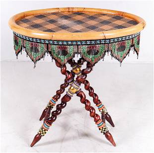 Mackenzie Childs Bamboo and resin tray top table