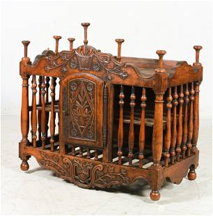 18th c French Carved Walnut Food or Livery Cupboard