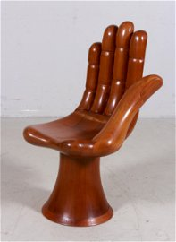 """Pedro Friedeberg carved """"Hand"""" chair"""