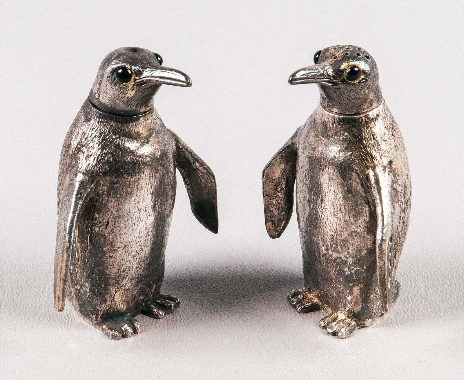 Sterling Fred J. Cooper Penguin Form Shakers