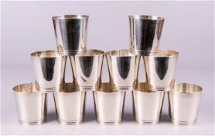 (11) Tiffany Sterling Mint Julep Cups