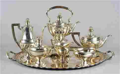 (6) Pc Tiffany & Co, Makers Sterling silver Tea Set