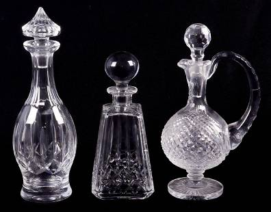 (3) Waterford Decanters