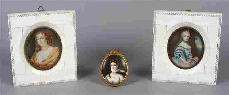 (3) Miniature Portraits