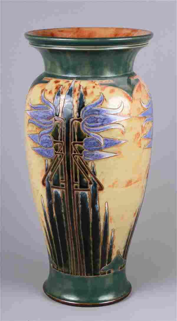 Royal Doulton Art Nouveau Stoneware Vase