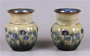 Royal Doulton Stoneware Vase Pair