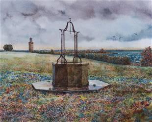 """A N Wyeth """"Rain at Avery Point"""""""