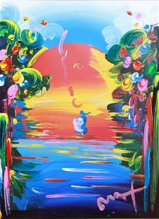 """Peter Max Painting """"Better World"""""""