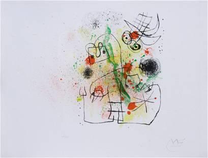 "Joan Miro ""Woman and Bird in Torment"""