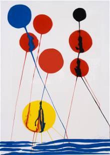 "Alexander Calder Signed Lithograph ""Balloons"""