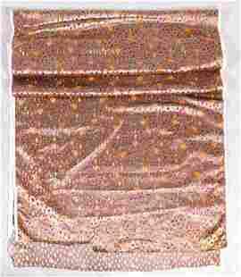 4 Yards 1920's Cut Silk Velvet Fabric
