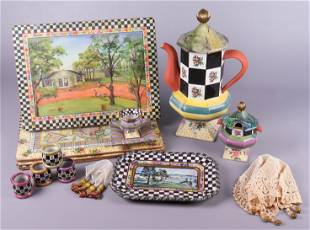 (16) Mackenzie Childs Table Items