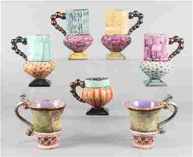 (7) Mackenzie Childs Mugs