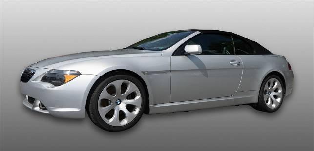 2004 BMW 645CI Convertible Sedan