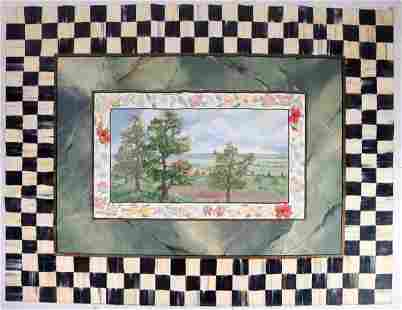 Mackenzie Childs painted tapestry/floor covering