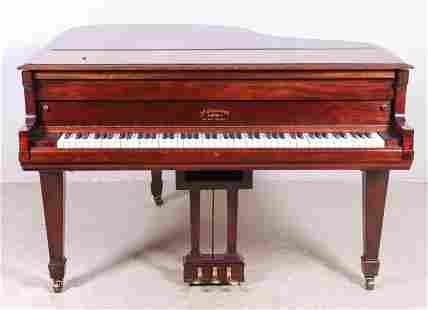Mathushek Piano Co Mahogany Baby Grand Piano