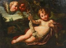 """18th C painting """"Ecce Agnus Dei"""""""