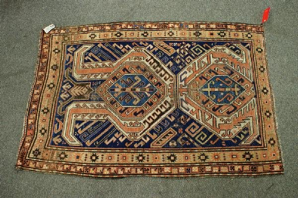 2: 4.0 x 6.0 Caucasian rug, some wear