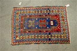 3 37 x 54 Caucasian prayer rug scattered wear
