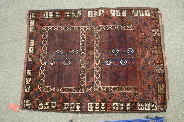 9: 4.5 x 5.8 Turkoman rug