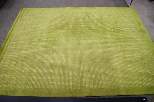 1: 9.0 x 12.0 Mid century lime green carpet by V'SOSKE